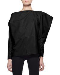 Tom Ford - Leather Off-shoulder Top - Lyst