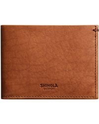 Shinola - Men's Slim Leather Bifold Wallet - Lyst