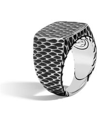 John Hardy - Men's Legends Naga Dragon Signet Ring - Lyst
