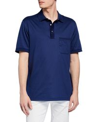 899d4719 Lyst - Brioni Micro-grid Jacquard Quarter-zip Polo Shirt in Gray for Men