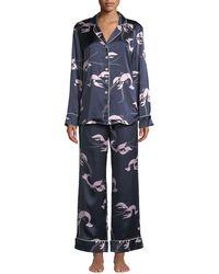 Olivia Von Halle - Lila Constance Lobster-print Classic Silk Pyjama Set - Lyst