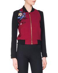 Roland Mouret - Rushenden Floral Embroidered Bomber Jacket - Lyst