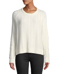 ATM - Cableknit Sweater - Lyst