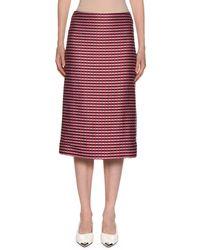 Marni - Checked-knit Midi Pencil Skirt - Lyst