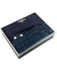 Neiman Marcus - Two-piece Plaid Pyjama Gift Set - Lyst