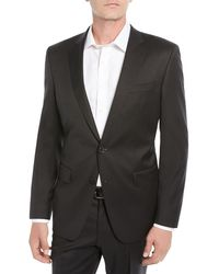 BOSS - Men's Stretch-wool Basic Two-piece Suit Black - Lyst