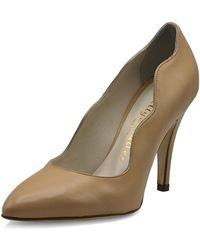 Bettye Muller - Gentry Scalloped Leather Pumps - Lyst