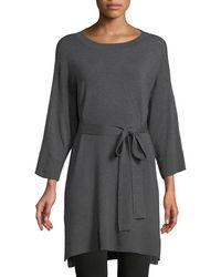 Eileen Fisher - 3/4-sleeve Cozy Stretch Tunic W/ Belt - Lyst