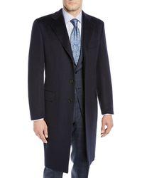 Brioni - Men's Single-breasted Cashmere Top Coat - Lyst
