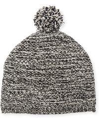 Eileen Fisher - Cotton Chenille Beanie Hat W/ Pompom - Lyst