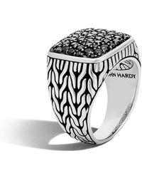 John Hardy - Men's Lava Black Sapphire Ring Size 10 - Lyst