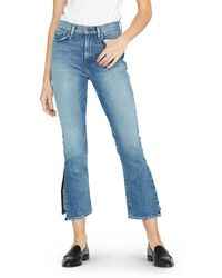Hudson Jeans - Holly High-rise Crop Flare Jeans With Split Hem - Lyst