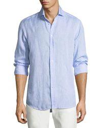 Ralph Lauren - Solid Linen Sport Shirt - Lyst