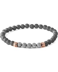 Tateossian - Men's Two-tone Mesh Bead Bracelet - Lyst