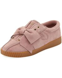 Tretorn - Nylite Silky Suede Lace-up Sneakers W/ Bow - Lyst