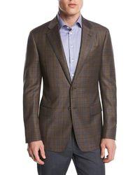 Giorgio Armani - Plaid Wool Two-button Sport Coat - Lyst