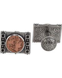 Konstantino - Men's Sterling Silver & Copper Herakles Cuff Links W/spinel Insets - Lyst