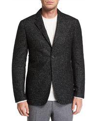 Ermenegildo Zegna - Men's Two-button Tic-pattern Jacket - Lyst