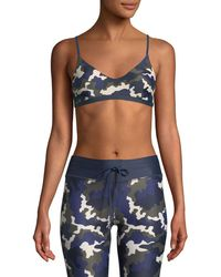 The Upside - Zoe Camo-print Sports Bra - Lyst