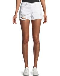 Etienne Marcel - Distressed Denim Shorts - Lyst