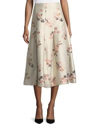 Co. - Floral-jacquard Long Taffeta Skirt - Lyst