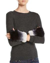 Neiman Marcus - Ombre Rabbit Fur Cuffs - Lyst