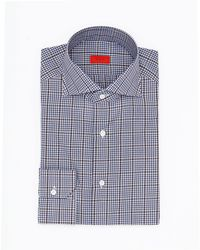 Isaia - Blue/ Brown Overcheck - Lyst