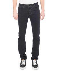 Berluti - Washed Denim Straight-leg Jeans Dark Gray - Lyst