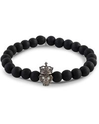 Tateossian - Men's Wood Bead And Gunmetal Bracelet - Lyst