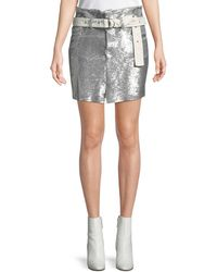 IRO - Natou Belted Sequined Mini Skirt - Lyst