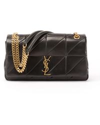 Saint Laurent - Jamie Medium Diamond-quilted Chain Shoulder Bag - Bronze Hardware - Lyst