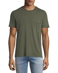 7 For All Mankind - Men's Raw-pocket Crewneck T-shirt - Lyst