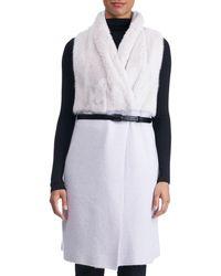 Gorski - Belted Long Cashmere Vest With Mink Fur - Lyst