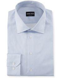 Giorgio Armani - Striped Barrel-cuff Dress Shirt - Lyst
