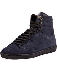 Mens Mens SL/10H Suede Sneakers Saint Laurent ha2Jm