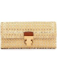 de521cfa047a Lyst - Tory Burch Britten Leather Clutch Bag in Pink