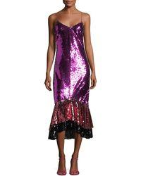 Sachin & Babi - Cappadocia Tricolor Sequin Mermaid Gown - Lyst