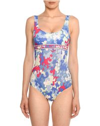 4356a8c355a Emilio Pucci - Scoop-neck Hydrangea-print Open-back One-piece Swimsuit