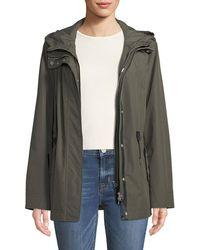 Mackage - Meltiar Hooded Rain Jacket W/ Covered Placket - Lyst