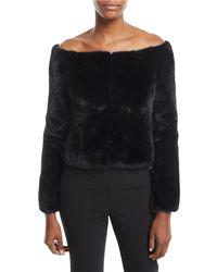 Brock Collection - Frances Off-the-shoulder Mink-fur Coat - Lyst