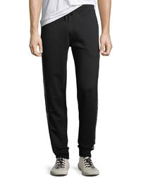 Off-White c/o Virgil Abloh - Men's Cotton Track Pants With Logo Taping - Lyst