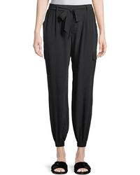 Go> By Go Silk - Belted Silk Cargo Pants - Lyst