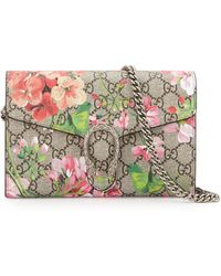 c141df31d05 Gucci - GG Blooms Dionysus Wallet On A Chain - Lyst
