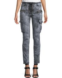 Unravel - Cloudy Basic Cargo Skinny Jeans - Lyst
