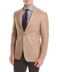 Canali - Silk-cashmere Patch Pocket Blazer - Lyst