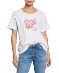 All Things Mochi - Kaila Aloha Embroidered Tee - Lyst