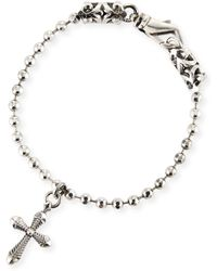 Emanuele Bicocchi - Men's Ball Chain Bracelet W/ Cross Charm - Lyst