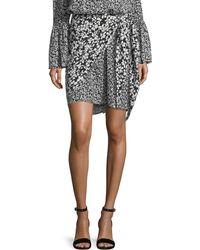 Michael Kors - Floral-print Crepe De Chine Silk Pareo Skirt - Lyst