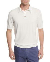 Ermenegildo Zegna - Banded-hem Cotton Polo Shirt - Lyst