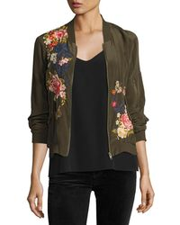 Johnny Was - Lucy Crepe De Chine Bomber Jacket - Lyst